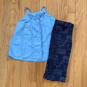 Girls Gap Tank & Gymboree Pants